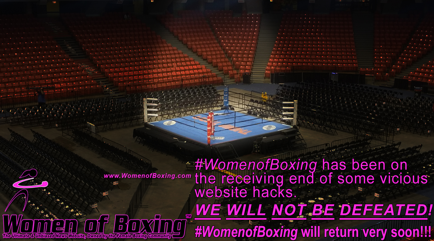 #WomenofBoxing will not be defeated! #WomenofBoxing to return soon!