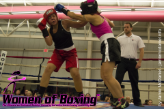 Domoniqe Barros delivers the hook on Rosie Torres